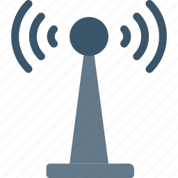 communication, radar, signal, tower icon