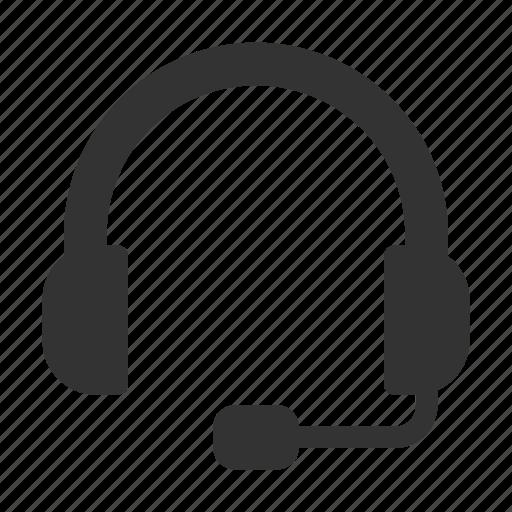 audio, communication, earphone, headphone, music, service, support icon