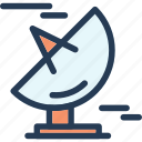 communication, dish, signal, signal dish icon