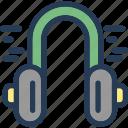 communication, earphone, headphone, music icon
