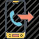 call, call forwarding, calling, outgoing, outgoing call icon