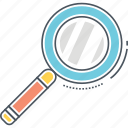 discover, find, magnifier, magnifying glass, search, searching icon