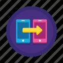 communication, data, transfer icon