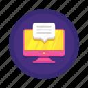 communication, desktop, messaging icon