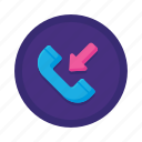 communication, incoming, interaction icon