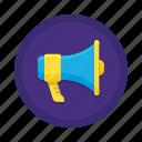 communication, interaction, loudspeaker icon