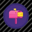 communication, interaction, mailbox icon