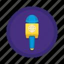 communication, mic, reporter icon