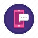 media, messaging, text icon