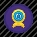 communication, interaction, webcam icon