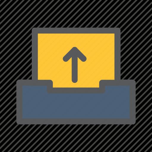 communication, network, sharing, upload, work icon
