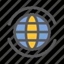 communication, earth, network, sharing, work, world icon