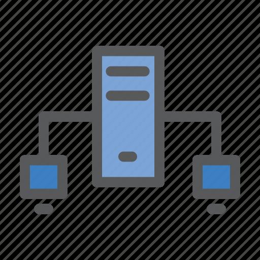 communication, data, network, sharing, work icon