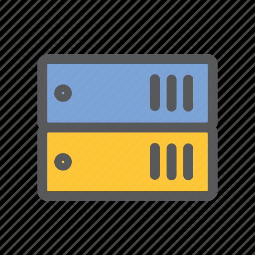 arsip, communication, data, folder, network, sharing, work icon