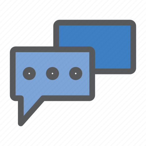 chat, communication, discussion, network, sharing, work icon
