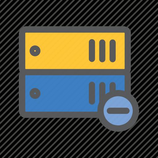 arsip, communication, data, minus, network, sharing, work icon