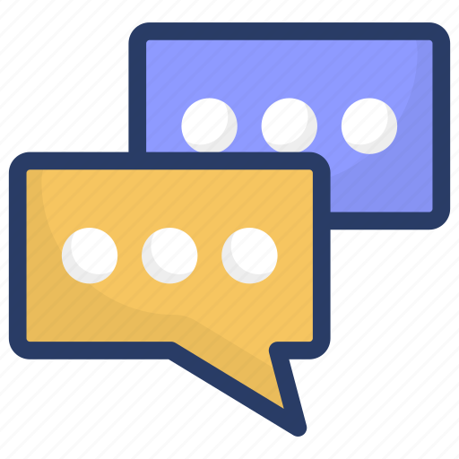 chatting, communication, conversation, discussion, talking icon