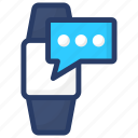 hand watch, messaging app, smart technology, smartwatch, watch, wrist watch icon