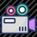 camcorder, camera, photo cam, photographic equipment, video camera icon