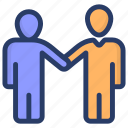 chatting, colleague, communication, conversation, friends, handshake icon