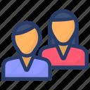 chatting, colleague, communication, conversation, discussion, friends icon