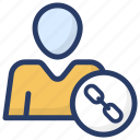 affiliate links, personal connection, personal links, personal network, user links icon