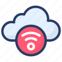 cloud computing, cloud network, wifi cloud, wifi zone, wireless network icon