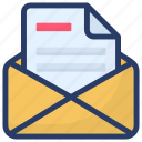 electronic mail, electronic message, email, mail, webmail, written correspondence icon