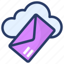 cloud computing, cloud mail, cloud technology, email, internet mail icon