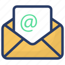 electronic mail, electronic message, email, mail, written correspondence icon