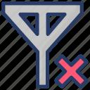clear filter, data clear filter, prohibition, remove filter, remove funnel icon