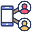 communication, mobile connection, mobile phone, mobile users, personal phone icon