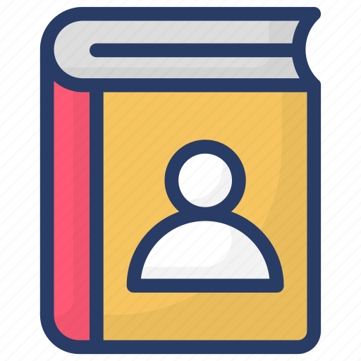 contacts, contacts book, directory, phone book, phone directory icon