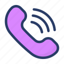 call, communication, incoming call, phone, receiver icon