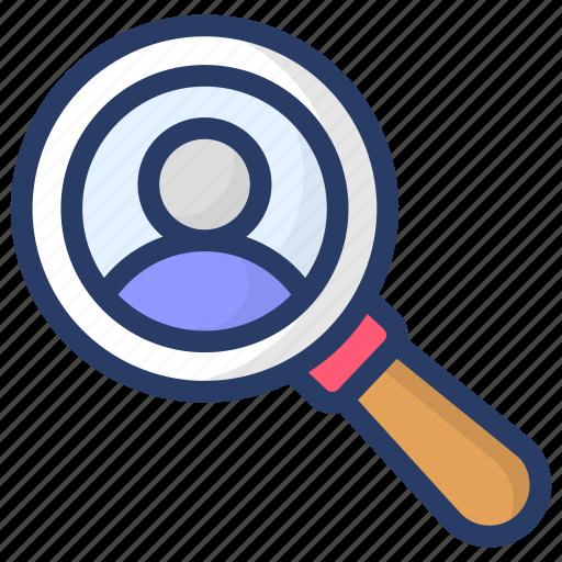 employee search, hiring, hiring employee, recruitment, talent search icon