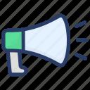 advertising, announcement, bullhorn, marketing, megaphone, publicity icon