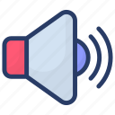 announcement, audio, megaphone, sound, volume icon