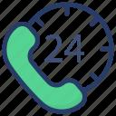 24hr helpline, call center, customer service, customer support, helpline icon