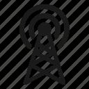 radio, signal, tower, wifi icon