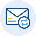 email, mail, message, refresh icon