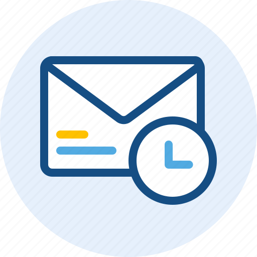 email, mail, message, scheduled icon