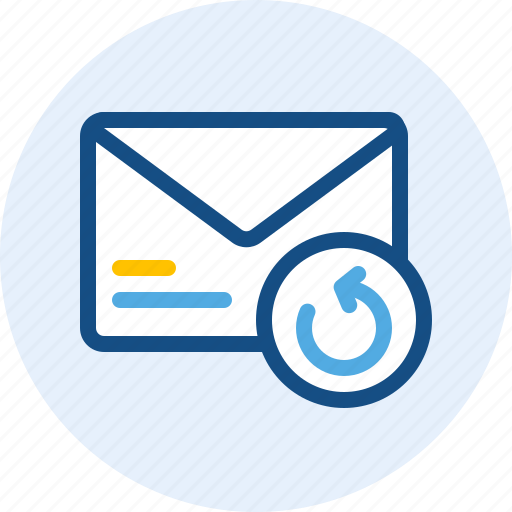 email, mail, message, undo icon