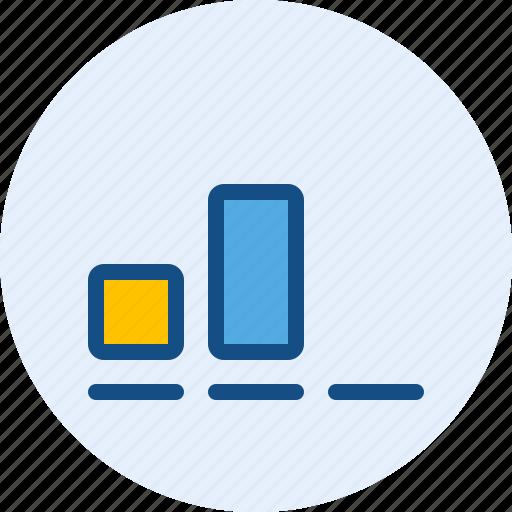 bar, communication, medium, signal icon