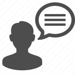 avatar, chat bubble, communication, speech bubble, talk, talking, user icon