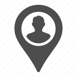 avatar, destination, gps, location, marker, position, user icon