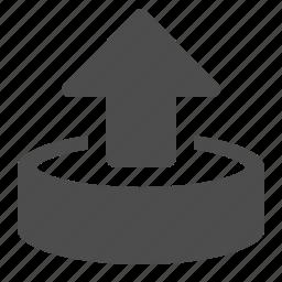 arrow, data, database, internet, upload icon