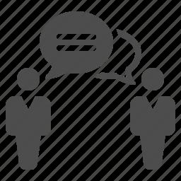 chat bubble, communication, man, men, people, speech bubble, talking icon