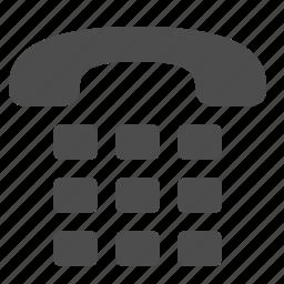 fax, handset, landline, phone, telephone icon