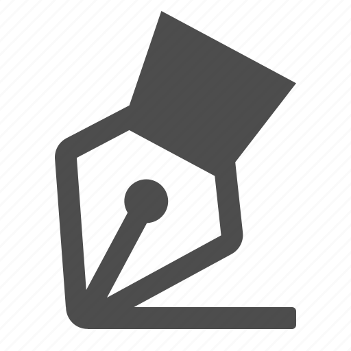 fountain pen, ink, pen, tip, writing icon