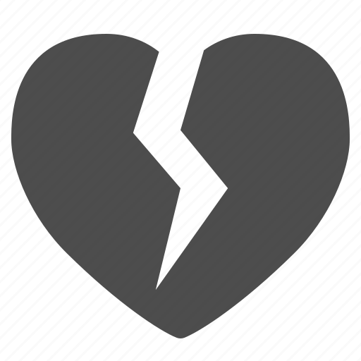 broken, crack, heart, love, social media icon